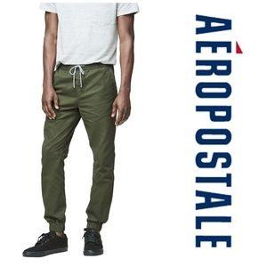 Aeropostale Mens Twill Casual Jogger Pants